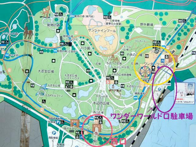 海ノ中道駐車場マップ