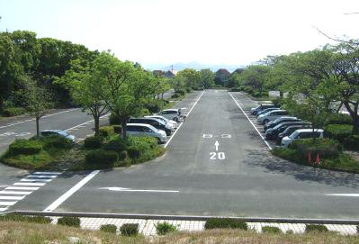 海ノ中道駐車場朝